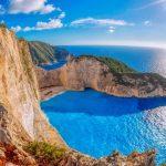 Vacanze a Zante per giovani vista di Navagio dall'alto