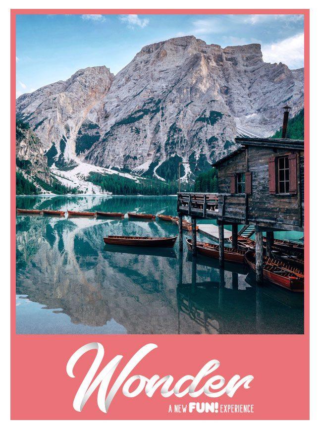 Immagine del Lago di Braies dalla palafitta - viaggi esperienziali